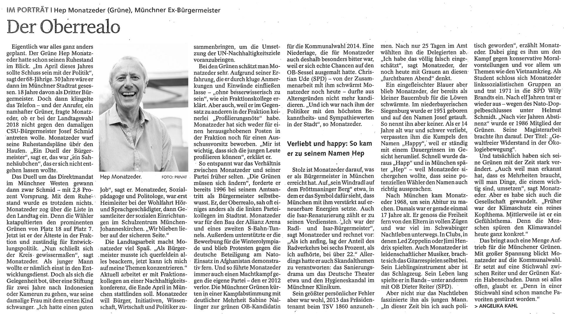 Hep Monatzeder Website Beitraege Portrait Bayerische Staatszeitung